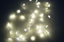 Lichterkette 40 LED Micro Sternenkette Warmweiß Batterie biegsam Wasserfest