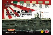 LifeColor CS37 Camouflage Set Imperial Japan Navy WWII Late War - Set 2