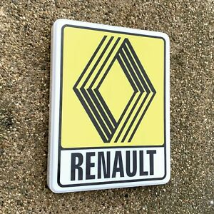 RENAULT 1972 1992 ILLUMINATED LED LIGHT BOX WALL SIGN GARAGE GAS & OIL 5GT TURBO