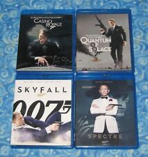 4 James Bond 007 Daniel Craig Blu ray Disc Lot Collection Skyfall Spectre More