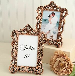 Copper Baroque 4x6 Photo Frame Table Number Holder Wedding Decor MW70024