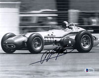 A.J. FOYT SIGNED AUTOGRAPHED 8x10 PHOTO AUTO RACING LEGEND BECKETT BAS