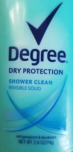 2x DEGREE DRY PROTECTION Antiperspirant Deodorant SHOWER CLEAN Invisible Solid