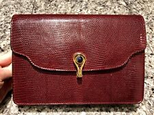 GUCCI 1960's Burgundy Genuine Lizard Bag