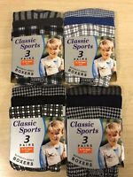 NEW 3 6 12 PACKS Boys Kids Classic COTTON JERSEY BOXER SHORTS Age 2 -13 Years