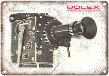 "Bolex H 16 Rx-5 Film Camera 10"" x 7"" Retro Look Metal Sign"