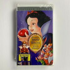 Disney's Snow White And The Seven Dwarfs (VHS, Platinum Edition) NEW & SEALED