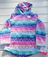 NWT Jumping Beans Girls Snowflakes Hooded Fleece sz 4 colorful
