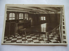 VINTAGE POSTCARD. HMS VICTORY, NELSON'S DINING ROOM. REAL PHOTO. UNUSED