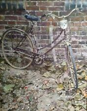 "Raro impresionante Original Dennis Syrett ""Otoño ciclo"" Bicicletas Aceite Lienzo"