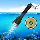 IPX8 5000LM XM-L T6 LED SCUBA Diving Waterproof Flashlight Torch Light 18650 Hot