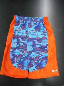 Boys STX $19 Blue & Orange Athletic Wicking Shorts Sizes 8, 10/12 & 14/16