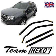 DDA13108 DACIA DUSTER 5-DOOR  2010-2017 WIND DEFLECTORS 4pc HEKO TINTED