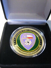 HOUSTON Fire Dept. Challenge Coin with Presentation Box