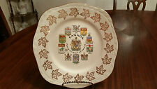 Canada Coats of Arms & Emblems Collectible Plate Alfred Meakin England ON SALE