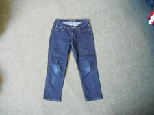 "Old Navy Sweetheart Crop Jeans Waist 29"" Leg 22"" Faded Dark Blue Ladies Jeans"