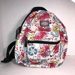 Girls Dickies Stars Peace Zip Canvas Backpack 12in  Multicolor