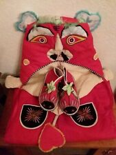 Child's Chinese Lion/Dragon Costume Outfit with Hat, Shoes, Cats Collectible