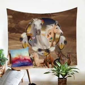 Dreamcatcher Horse Animal Wall Tapestry Hanging Throw Cover Home Room Decoration