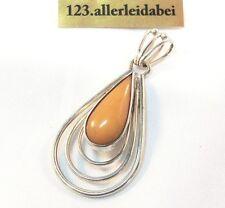 Original Fischland Butterscotch Bernstein Anhänger 835 er Silber amber / AN 281
