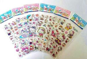 10 x  HELLO KITTY Sticker strips  loot -party bags birthday -gift - girls party