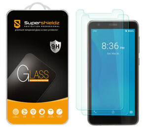 [2-Pack] Supershieldz Tempered Glass Screen Protector for ZTE Quest 5