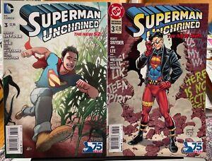 SUPERMAN UNCHAINED 9 LOT VARIANTS DC COMICS