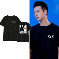 KPOP K&K CHINA Printed Team T-shirt Men's Women's Fashion Loose Tee Shirts