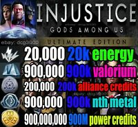 injustice gods among us (ANDROID / iOS) energia creditos poder alianza nth metal
