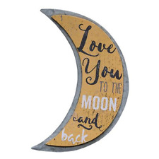 Love you to the Moon & Back~Galvanized metal and Wood Sign Perfect Gift