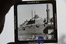 original Foto auf Glasplatte Kairo die Citadelle  um 1900