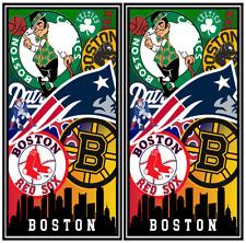 Boston Teams Cornhole Wraps HIGH QUALITY Decal