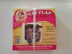 "Ideal Pet Products Cat Flap - Small Cat Door - 6 1/4"" x 6 1/4"" Lexan Flap - NEW"