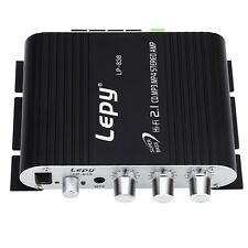 Car 3-Channel Amplifier Lepy LP-838 Amp for Motor Phone Home MP3 MP4 DVD - Black