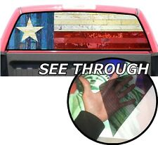 P61 Texas Flag Rear Window Tint Graphic Decal Wrap Back Pickup Graphics