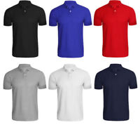 Mens New Pack of 4 Polo Short Sleeves Plain T-shirt Top Quality Designer Tops