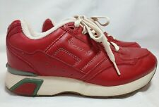 6add0e5aede085 Tommy Hilfiger Athletics Red Leather Shoes Size 8 1 2M Lace Up Large H  Women s