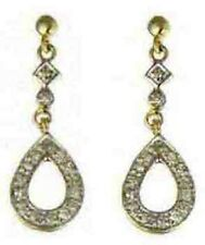 Cluster 9Carat Yellow Gold Fine Gemstone Earrings