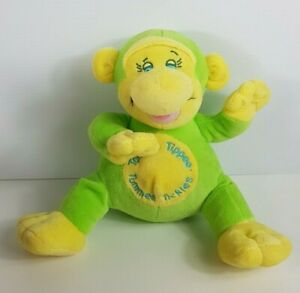 Tommee Tippee Tummee Tickles Toy Green Monkey Working