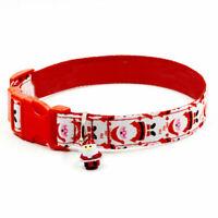 Santa Bell Pet Collar Nylon Pet Necklace Christmas Pet Supplies for Dog Puppy