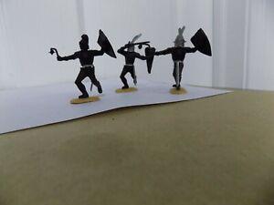 3 Original 1966 Timpo black knights