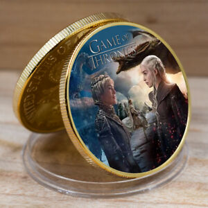 Art Ornament  Game of Thrones Commemorative Gold Coin Business Gift