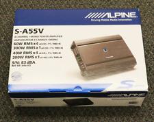 ALPINE S-A55V 4-CHANNEL PLUS MONO POWER SUBWOOFER AMPLIFIER CAR AUDIO