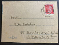 1944 Bunde Germany Letter cover To Brunswick