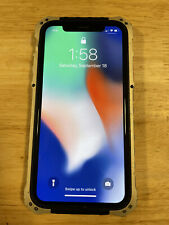 iPhone X 256gb Factory Unlocked Space Gray With Element Case (Read Description)