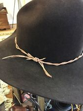 GUS  BARB WIRE LEATHER WESTERN Lonesome Dove Style HANDMADE HAT BAND