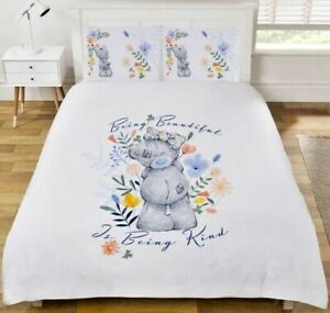 Double Bed Duvet Cover Set Me To You Tatty Teddy Reversible Floral Bedding