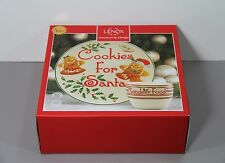 One Cookies for Santa Plate & Reindeer Cup NIB America by Design - Lenox