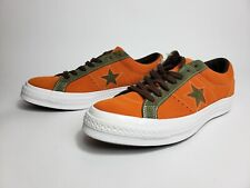 Converse One Star Pro Ox Orange Green White Casual Skating Shoes 161617C Size 9