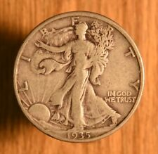 1935-D US Silver Liberty Walking Half Dollar 50 cents coin in Great shape!